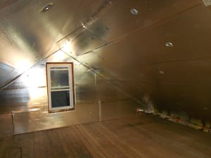 A Lawrence attic with SuperAttic installed.