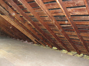 A Kansas attic before installation of SuperAttic