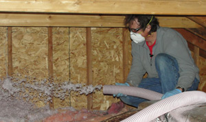 Fiberglass insulation installed Kansas