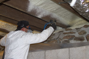 Spray Foam in the crawl space in Olathe